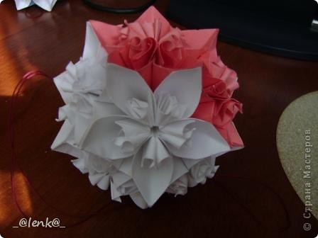 Фантазии на тему классической цветочной кусудамы фото 6