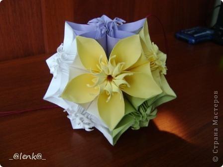 Фантазии на тему классической цветочной кусудамы фото 5