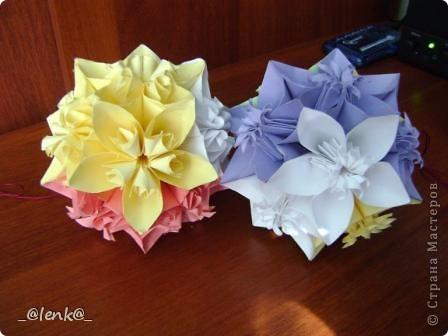 Фантазии на тему классической цветочной кусудамы фото 7