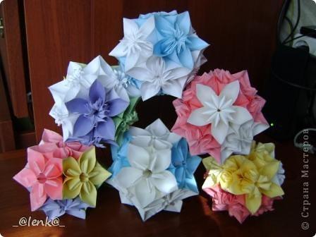 Фантазии на тему классической цветочной кусудамы фото 1