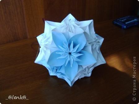 Фантазии на тему классической цветочной кусудамы фото 2