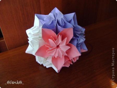 Фантазии на тему классической цветочной кусудамы фото 3