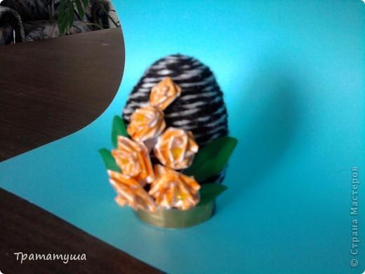 Увидела в Стране Мастеров МК по изготовлению таких яиц и решила тоже сделать к празднику... фото 6