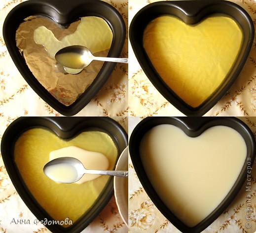 Слоёный желейный тортик с необычным, нежным вкусом! Да ещё и витаминный! Белое желе – ряженково-лимонное, оранжевое – яблочно-облепиховое. фото 5