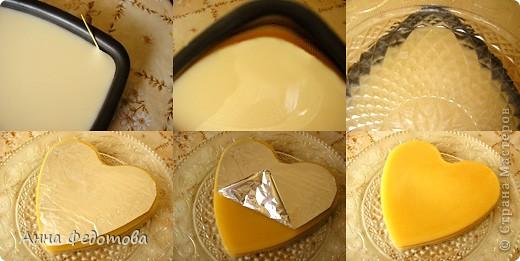 Слоёный желейный тортик с необычным, нежным вкусом! Да ещё и витаминный! Белое желе – ряженково-лимонное, оранжевое – яблочно-облепиховое. фото 7