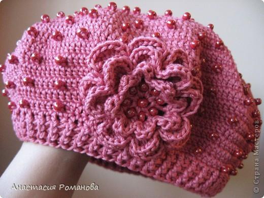 Вязание сумочки с розой для