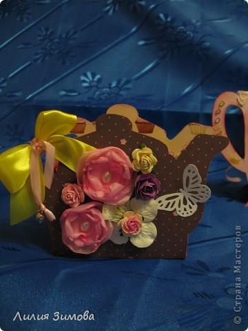 """Родители собрались ехать в Волгоград, у тети 8 мая будет день рождение.Сделала подарочек, уверенна ей понравится.Делала с любовью и от всей души)).Такой маленький наборчик """"Чайная церемония"""".Время было ограничено поэтому наборчик не очень большой.Но мне очень нравится)) фото 4"""