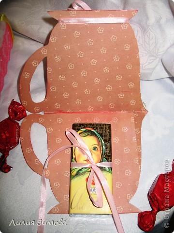 """Родители собрались ехать в Волгоград, у тети 8 мая будет день рождение.Сделала подарочек, уверенна ей понравится.Делала с любовью и от всей души)).Такой маленький наборчик """"Чайная церемония"""".Время было ограничено поэтому наборчик не очень большой.Но мне очень нравится)) фото 8"""
