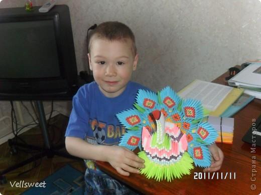 Мой павлинчик! Делала по схеме http://masterica.maxiwebsite.ru/archives/5194#more-5194. Единственное меняла цвета и рисунок. фото 2