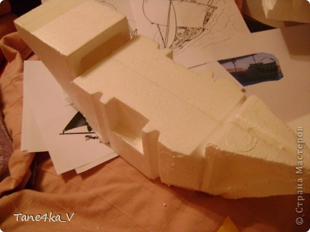 """Здравствуйте!  Представляю вам, пиратский корабль """"Черная жемчужина""""! сделан мной в подарок моему родному брату на  33-летие!!!  Ниже я делюсь с вами МК :)  Начнем! как я делала корабль.... фото 9"""