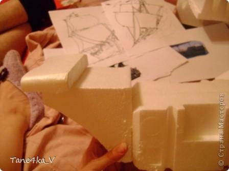"""Здравствуйте!  Представляю вам, пиратский корабль """"Черная жемчужина""""! сделан мной в подарок моему родному брату на  33-летие!!!  Ниже я делюсь с вами МК :)  Начнем! как я делала корабль.... фото 10"""