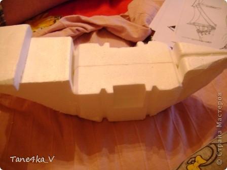 """Здравствуйте!  Представляю вам, пиратский корабль """"Черная жемчужина""""! сделан мной в подарок моему родному брату на  33-летие!!!  Ниже я делюсь с вами МК :)  Начнем! как я делала корабль.... фото 11"""