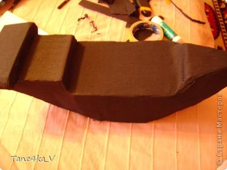 """Здравствуйте!  Представляю вам, пиратский корабль """"Черная жемчужина""""! сделан мной в подарок моему родному брату на  33-летие!!!  Ниже я делюсь с вами МК :)  Начнем! как я делала корабль.... фото 15"""