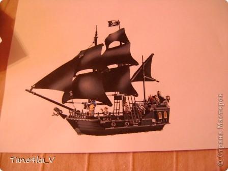 """Здравствуйте!  Представляю вам, пиратский корабль """"Черная жемчужина""""! сделан мной в подарок моему родному брату на  33-летие!!!  Ниже я делюсь с вами МК :)  Начнем! как я делала корабль.... фото 2"""