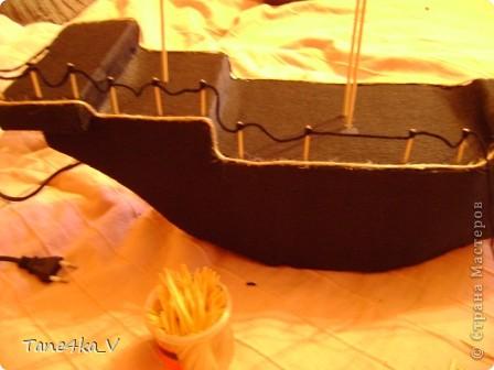 """Здравствуйте!  Представляю вам, пиратский корабль """"Черная жемчужина""""! сделан мной в подарок моему родному брату на  33-летие!!!  Ниже я делюсь с вами МК :)  Начнем! как я делала корабль.... фото 24"""