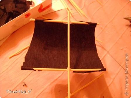 """Здравствуйте!  Представляю вам, пиратский корабль """"Черная жемчужина""""! сделан мной в подарок моему родному брату на  33-летие!!!  Ниже я делюсь с вами МК :)  Начнем! как я делала корабль.... фото 26"""