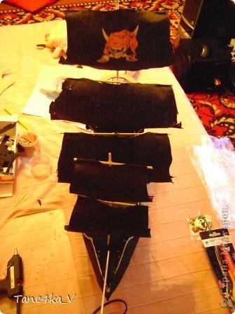 """Здравствуйте!  Представляю вам, пиратский корабль """"Черная жемчужина""""! сделан мной в подарок моему родному брату на  33-летие!!!  Ниже я делюсь с вами МК :)  Начнем! как я делала корабль.... фото 36"""