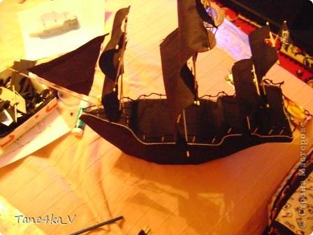 """Здравствуйте!  Представляю вам, пиратский корабль """"Черная жемчужина""""! сделан мной в подарок моему родному брату на  33-летие!!!  Ниже я делюсь с вами МК :)  Начнем! как я делала корабль.... фото 40"""