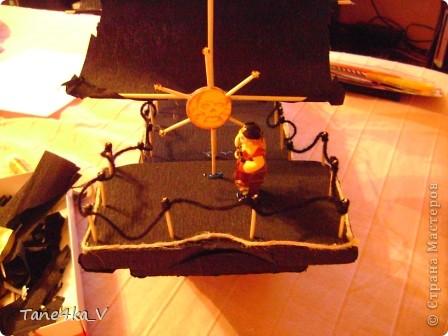 """Здравствуйте!  Представляю вам, пиратский корабль """"Черная жемчужина""""! сделан мной в подарок моему родному брату на  33-летие!!!  Ниже я делюсь с вами МК :)  Начнем! как я делала корабль.... фото 42"""