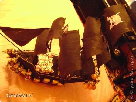 """Здравствуйте!  Представляю вам, пиратский корабль """"Черная жемчужина""""! сделан мной в подарок моему родному брату на  33-летие!!!  Ниже я делюсь с вами МК :)  Начнем! как я делала корабль.... фото 47"""