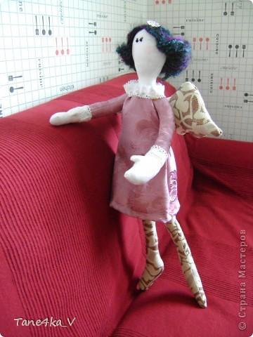 Вот такую Тильдочку принцессу сшила в подарок Полине - племяшке мужа на ДР!))))) фото 2