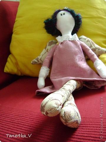 Вот такую Тильдочку принцессу сшила в подарок Полине - племяшке мужа на ДР!))))) фото 7