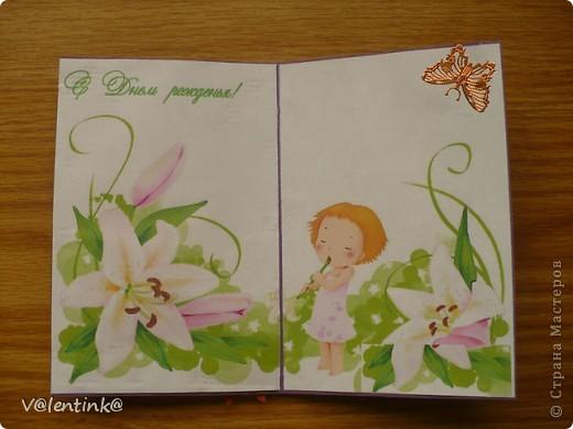 Делала в прошлом году вот такие открытки с эмитацией вышивки. фото 5