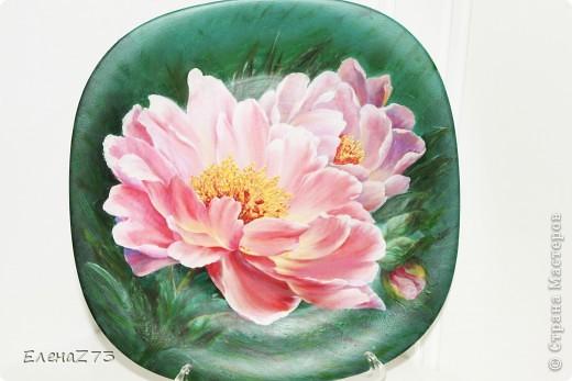 Это моя тарелочка. Картинка с инета и краски, много много подрисовки. фото 1