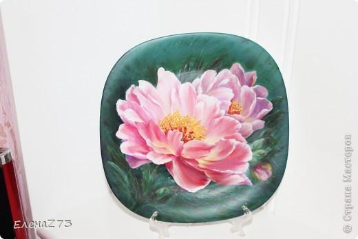 Это моя тарелочка. Картинка с инета и краски, много много подрисовки. фото 2