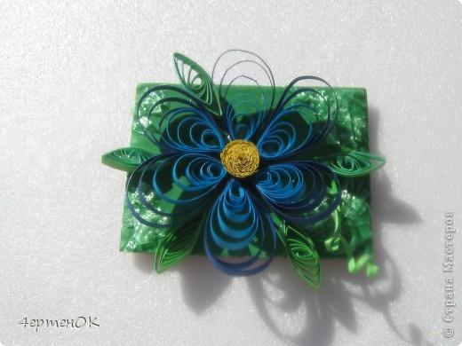 Вот такие небольшие магнитики на холодильник из остатков цветов получились. фото 1