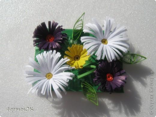 Вот такие небольшие магнитики на холодильник из остатков цветов получились. фото 2