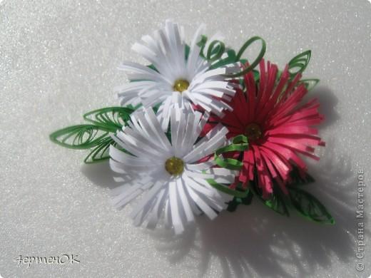 Вот такие небольшие магнитики на холодильник из остатков цветов получились. фото 3