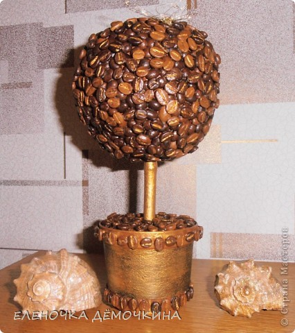 Я тоже не смогла удержаться и сделала свое кофейное деревце=) фото 1