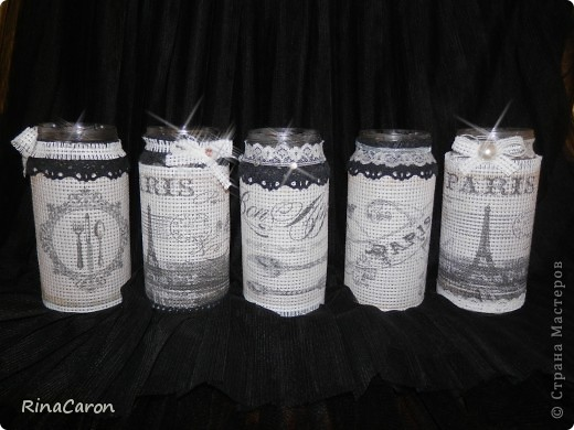 Набор винтажных баночек фото 1