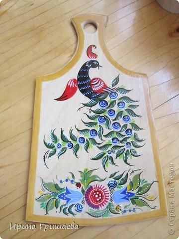 Птица счастья . Городецкая роспись. фото 1