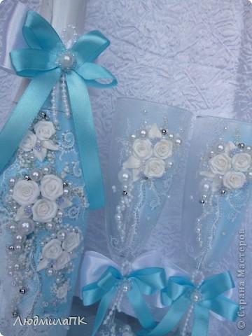 Свадебный набор в голубом стиле фото 3