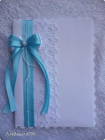 Свадебный набор в голубом стиле фото 5