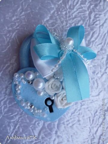 Свадебный набор в голубом стиле фото 6