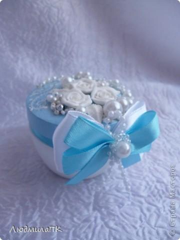 Свадебный набор в голубом стиле фото 7
