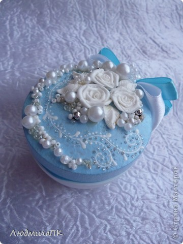 Свадебный набор в голубом стиле фото 8