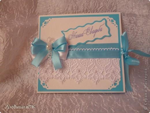 Свадебный набор в голубом стиле фото 9
