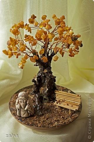 """""""Окунувшись в мир символов, мы находим определение дерева, как символ микрокосмоса - преходящего и изменчивого, а камень - вечного и неизменного - это жизнь в постоянном обновлении. Самоцветы, как листья этого дерева, символизируют сокровища знаний и истины, земную любовь и богатства."""" (с) фото 1"""