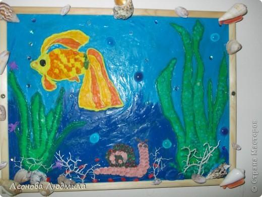"""""""Золотая рыбка"""" первая работа из пластилина. Коряво конечно, но я старалась :)"""