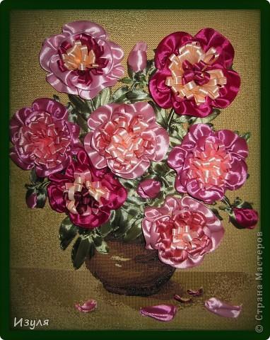 Листву вышивала, а цветы - аппликация. Предлагаю всем попробовать смастерить этот цветок своими руками. Это совсем не сложно! фото 12
