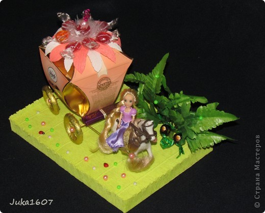 Здравствуй СТРАНА. Пригласили моего сынульку на день рождения. День рождения удался, аниматоры молодцы. А это наш подарок - принцесса Рапунцель на своём коне и с целой каретой конфет. фото 2