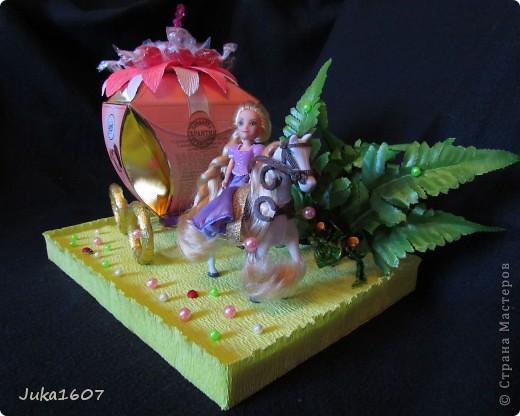 Здравствуй СТРАНА. Пригласили моего сынульку на день рождения. День рождения удался, аниматоры молодцы. А это наш подарок - принцесса Рапунцель на своём коне и с целой каретой конфет. фото 3