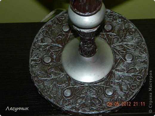 Спасибо Тани Сорокиной  http://stranamasterov.ru/node/308701 ,за столь интересную технику.Просто заболела ею как и многие другие,но не решалась попробовать.А тут старую лампу жаль было выбрасывать и решила я как-то ее за декорировать.И вот что вышло...не судите строго я только учусь. фото 4