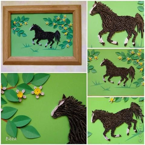 конь весной