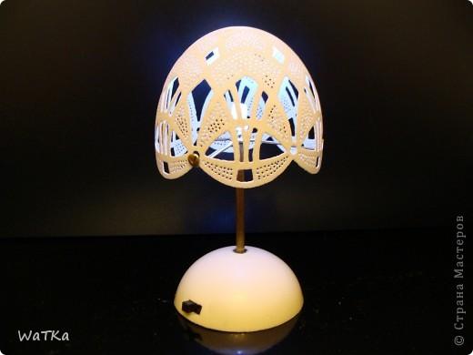 Понравился рисунок на предыдущем яйце, решил воплотить его в светильнике фото 3