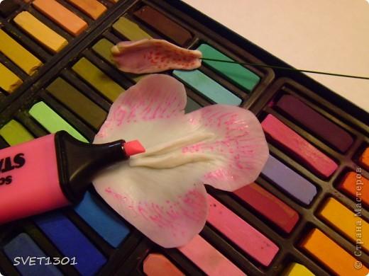 Мастер-класс 8 марта День рождения Лепка Орхидея цимбидиум МК Фарфор холодный фото 11